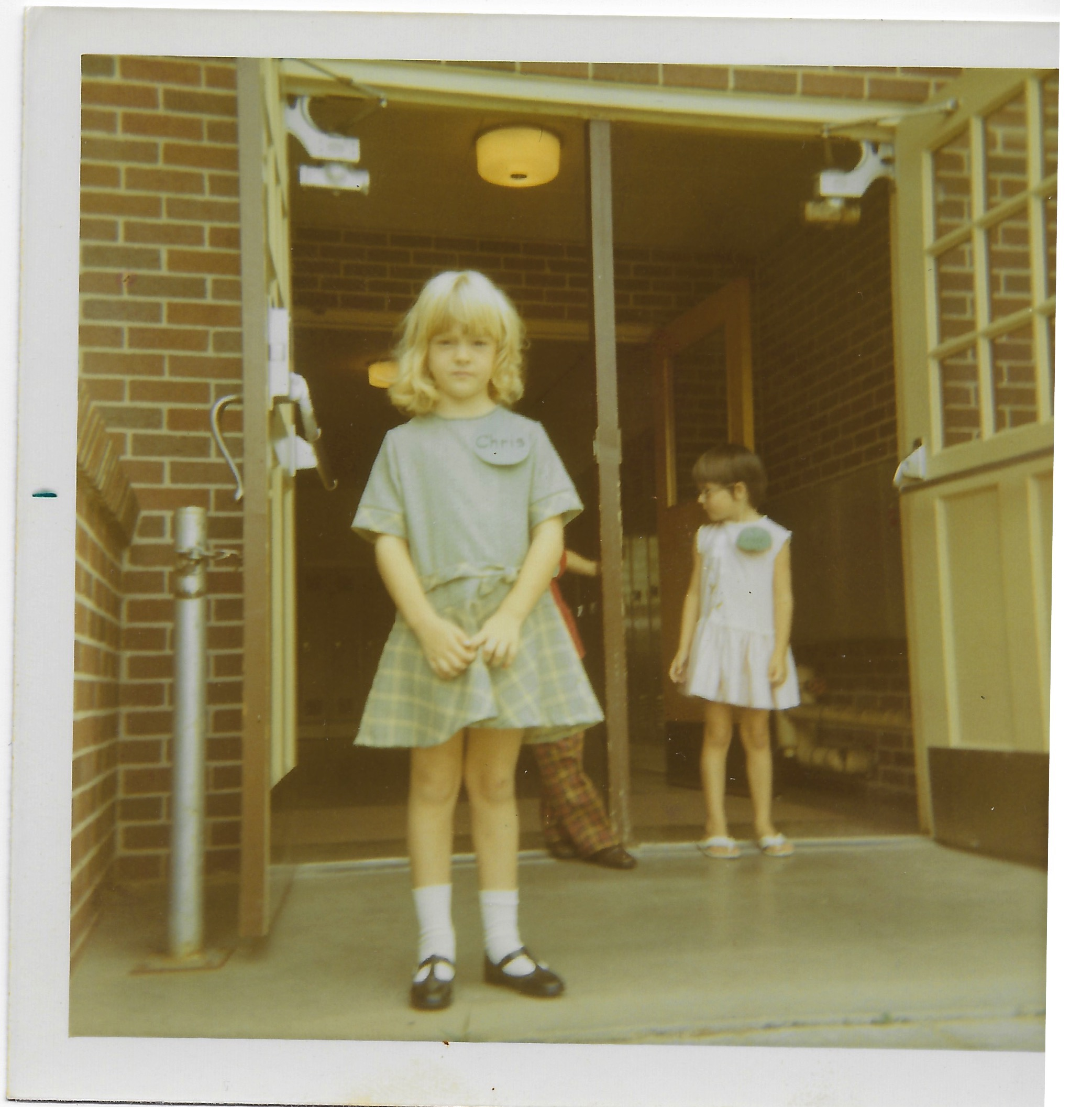 First Day Kindergarten, John Marshall Elementary. Mrs. Bottomley was possibly the best kindergarten teacher ever. She was not a young woman. She was of a different era. She came to school every day in stockings, heels and a sailor themed dress. It was the songs, the artwork, the reading, the playing under the pecan trees that, Mrs. Bottomley's fancy ways that made me fall in love with school.