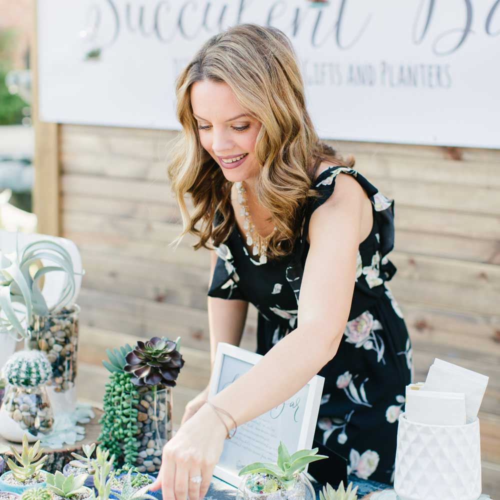 Owner of Succulent Bar, Jessica Siefert