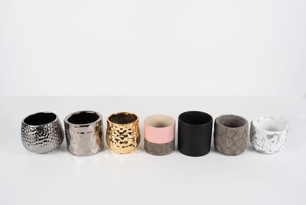 You can choose from a range of stylish containers