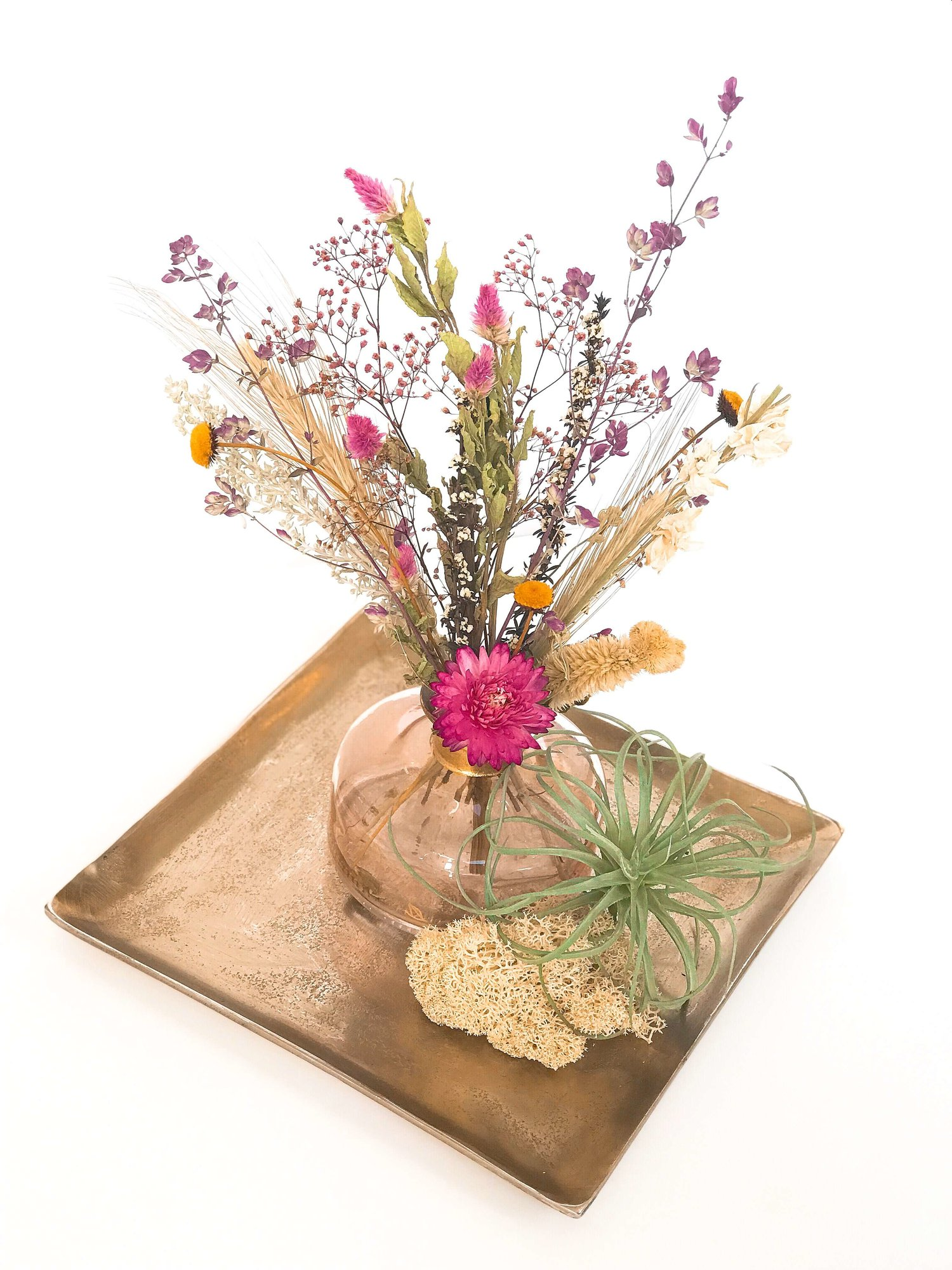 Dried floral budvase