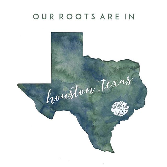 I'll be real with y'all. Since we started shipping our DIY Event Packages and Etsy Gift Boxes across the US it's been exhilarating to reach and serve a new audience. With that said, Marcus and I are reminded how much we appreciate having our family and business rooted here in Houston, Texas.⠀ ⠀ The support we have received from family, friends, and other businesses in the area are indescribable. A huge thank you for believing us and helping our business grow to where it is today. We can't wait to see what the future has in store for us. ⠀  Print Design: This watercolor was created especially for us by the talented, fine folks @thesensibletype