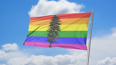 The Cascadia Rainbow Flag is one of many inclusive and positive symbols that make up the Cascadia movement.