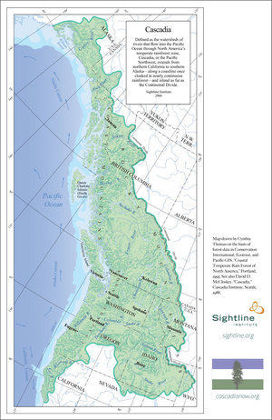 Cascadia Map By Cynthia McKinney Sightline Institute
