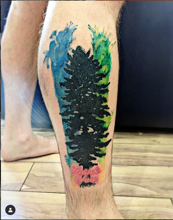 Awesome Cascadia Doug Flag Tattoo