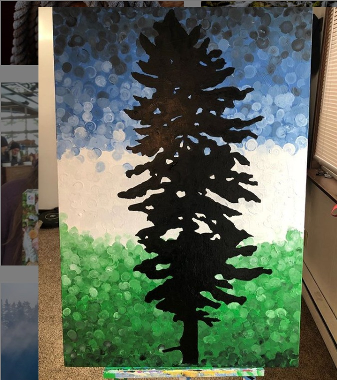 Cascadia Doug Flag Painting