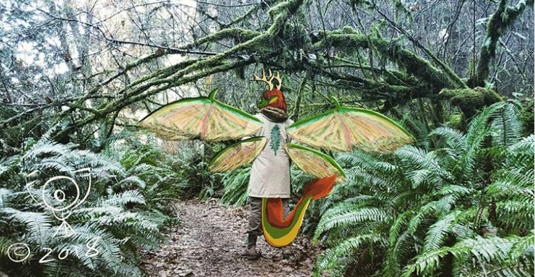 Cascadian Dragon in it's Natural Environment