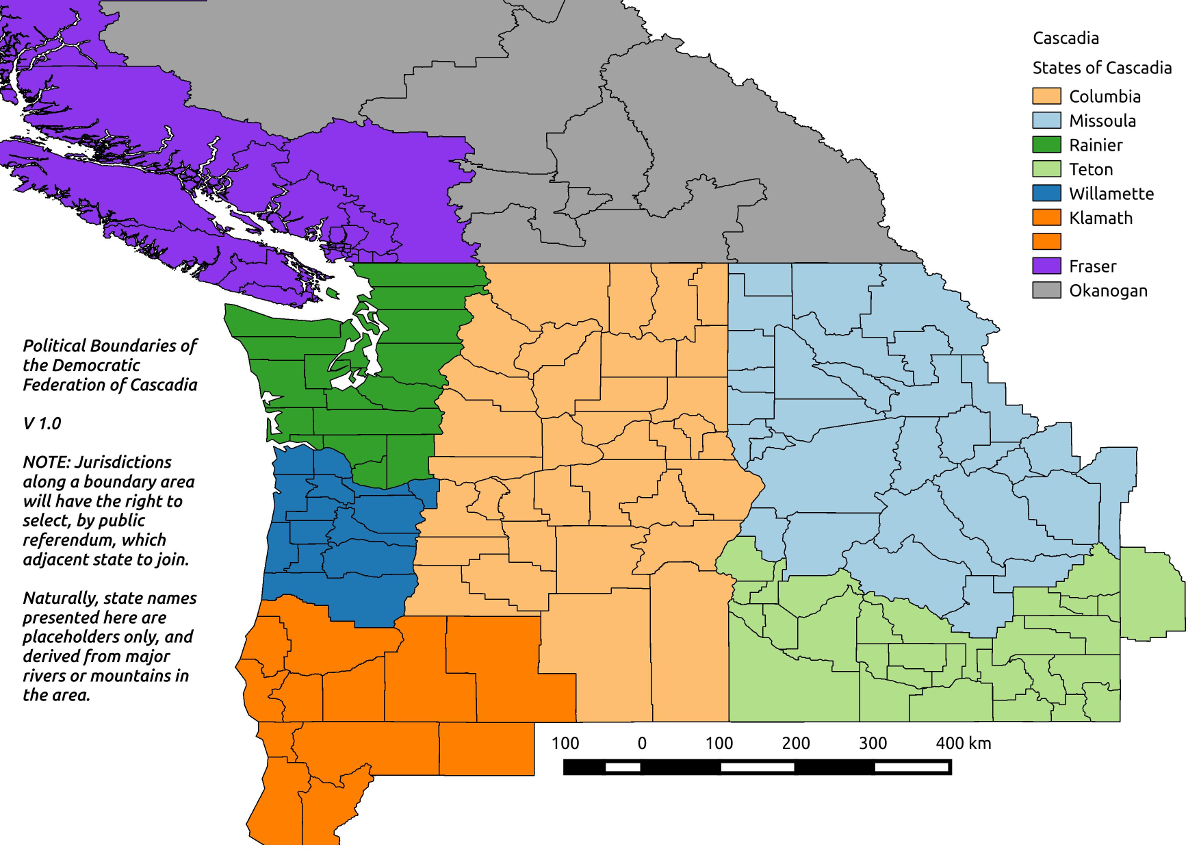 First draft exploration of possible Cascadian areas.