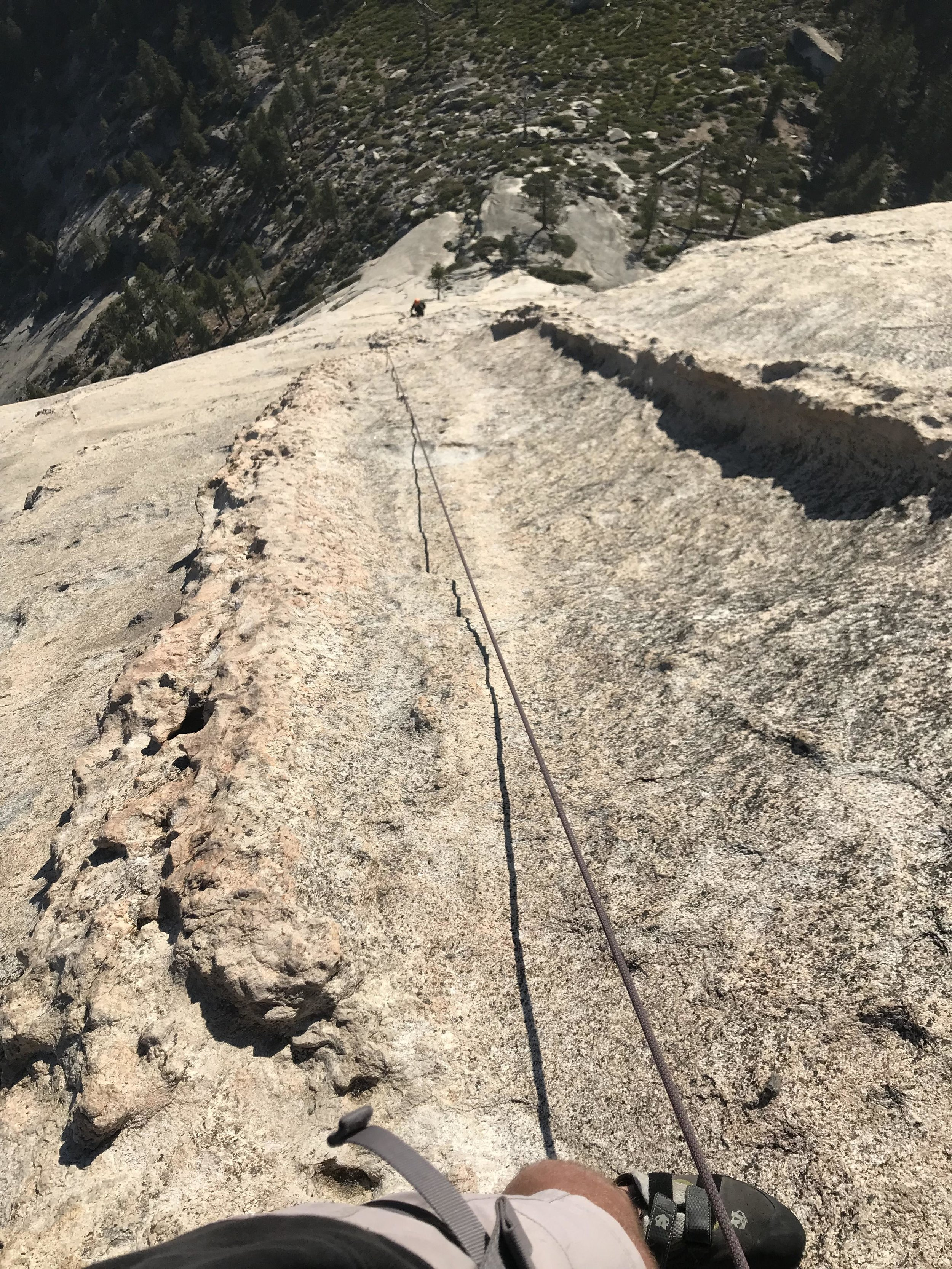 Only one bolt on this pitch...luckily the climbing was only 5.4 ish.