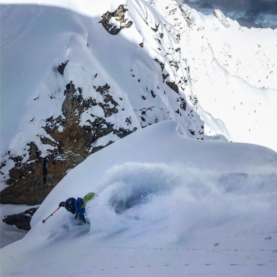 Getting PITTED in the Kicking Horse sidecountry. Photo by Miles Clark.