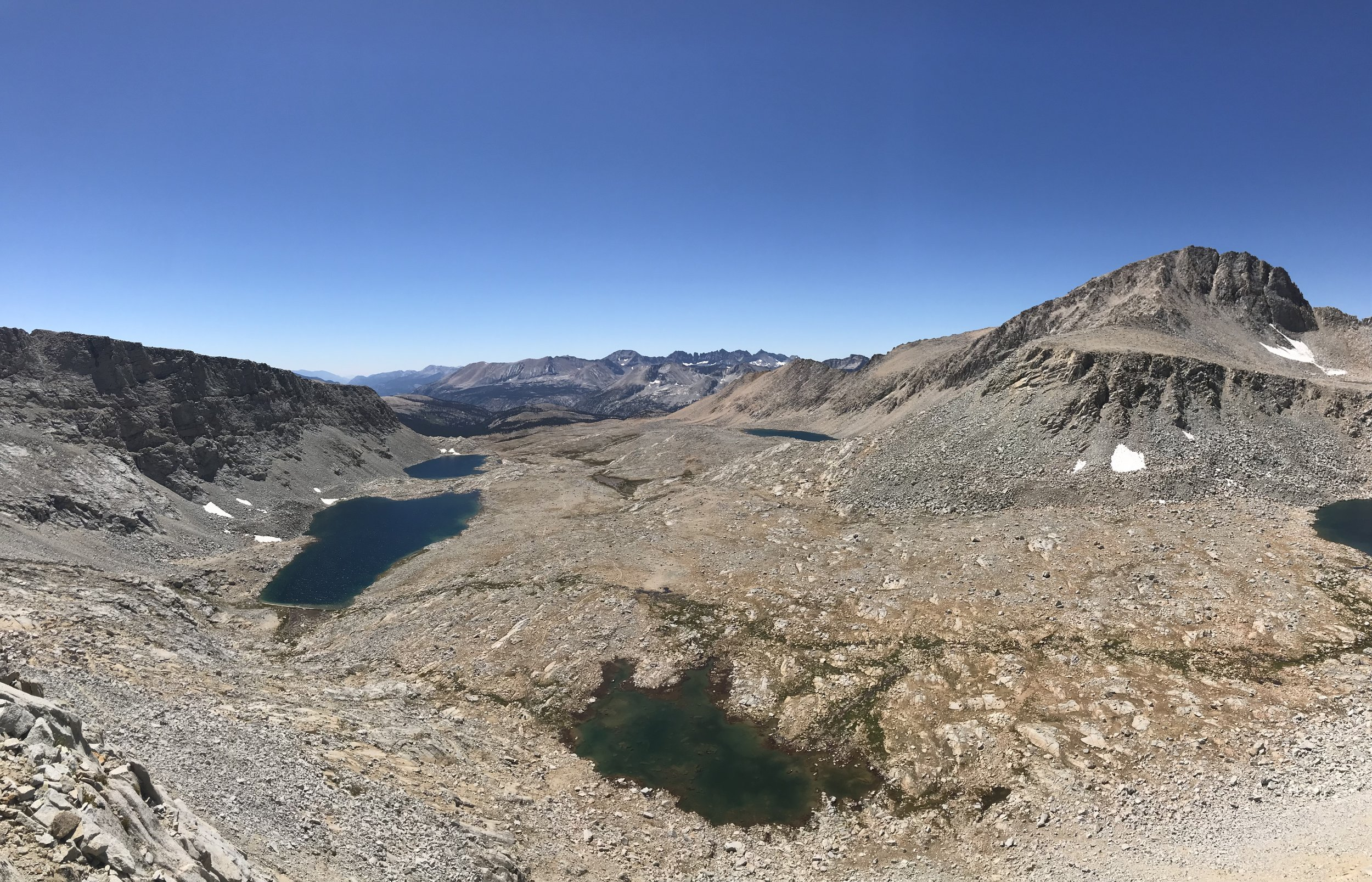 Looking south from the pass.