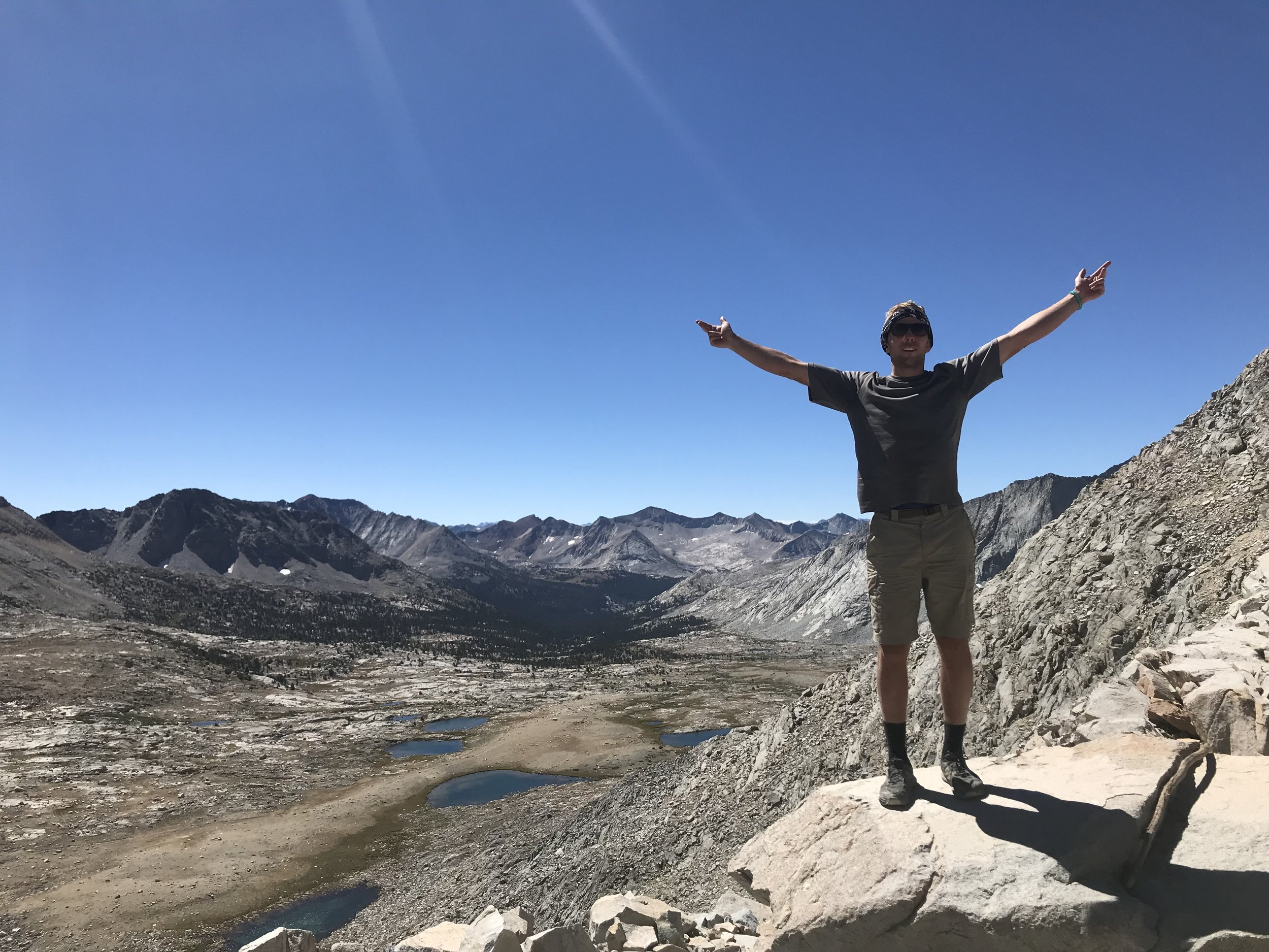 Feeling stoked, high on Mather Pass.