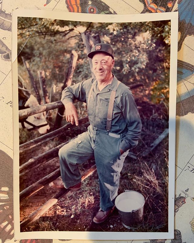 this is Joseph Turbell. He farmed our land in the 40's & 50's and the field where I now grow my flowers used to be his cow pasture. When I went to pay taxes on our land the gals at town hall gave us this photo. how cute is it?! framer for sure. Can't wait to hang it up in our farm stand.