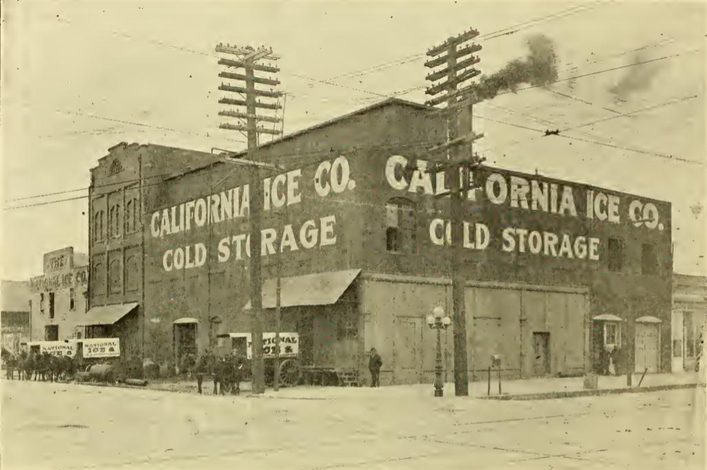 California Ice Co., 2nd & Broadway, 1902