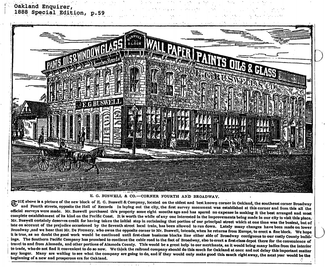 Buswell Paint Co., 4th & Broadway, 1888