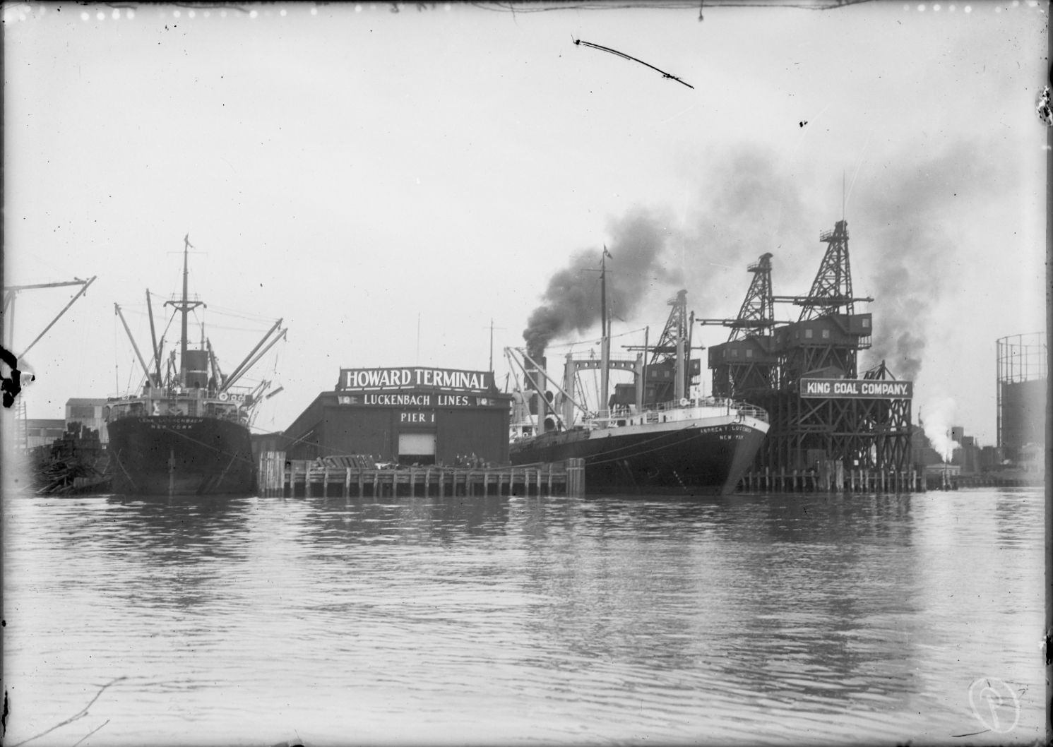 Howard Terminal from the water, 1920s