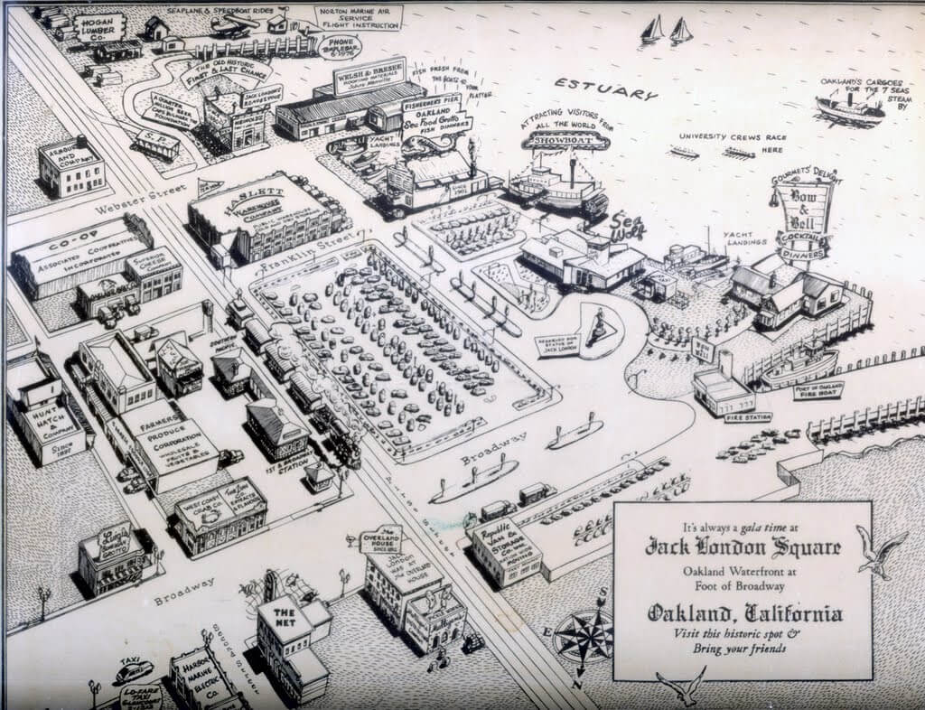 Hand Drawn Map of Jack London 1900s