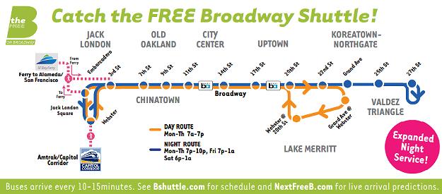 free broadway shuttle map