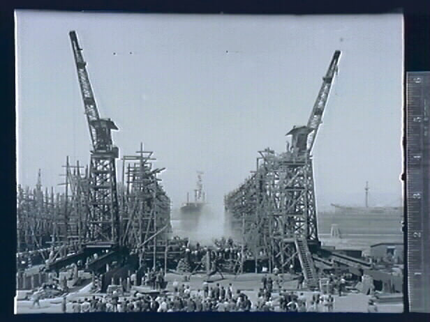 Union Iron Works Ship Yard, 1917