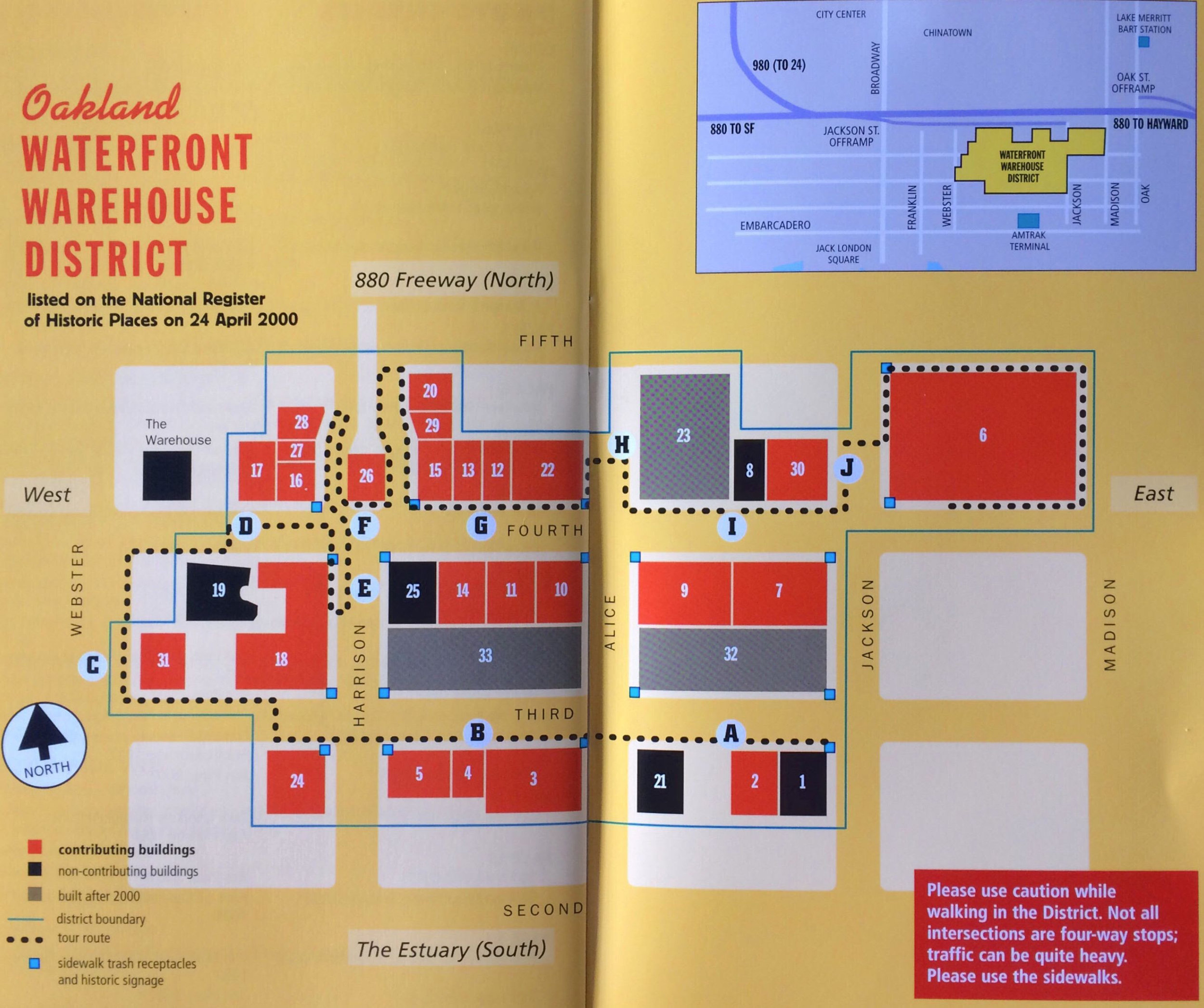 Waterfront Warehouse District Map