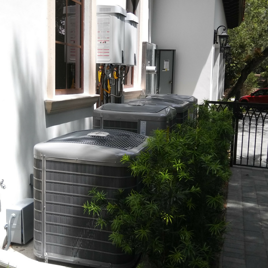 Coral Gables - Residential - Installation of four Navian tankless water heaters in Coral Gables Residence