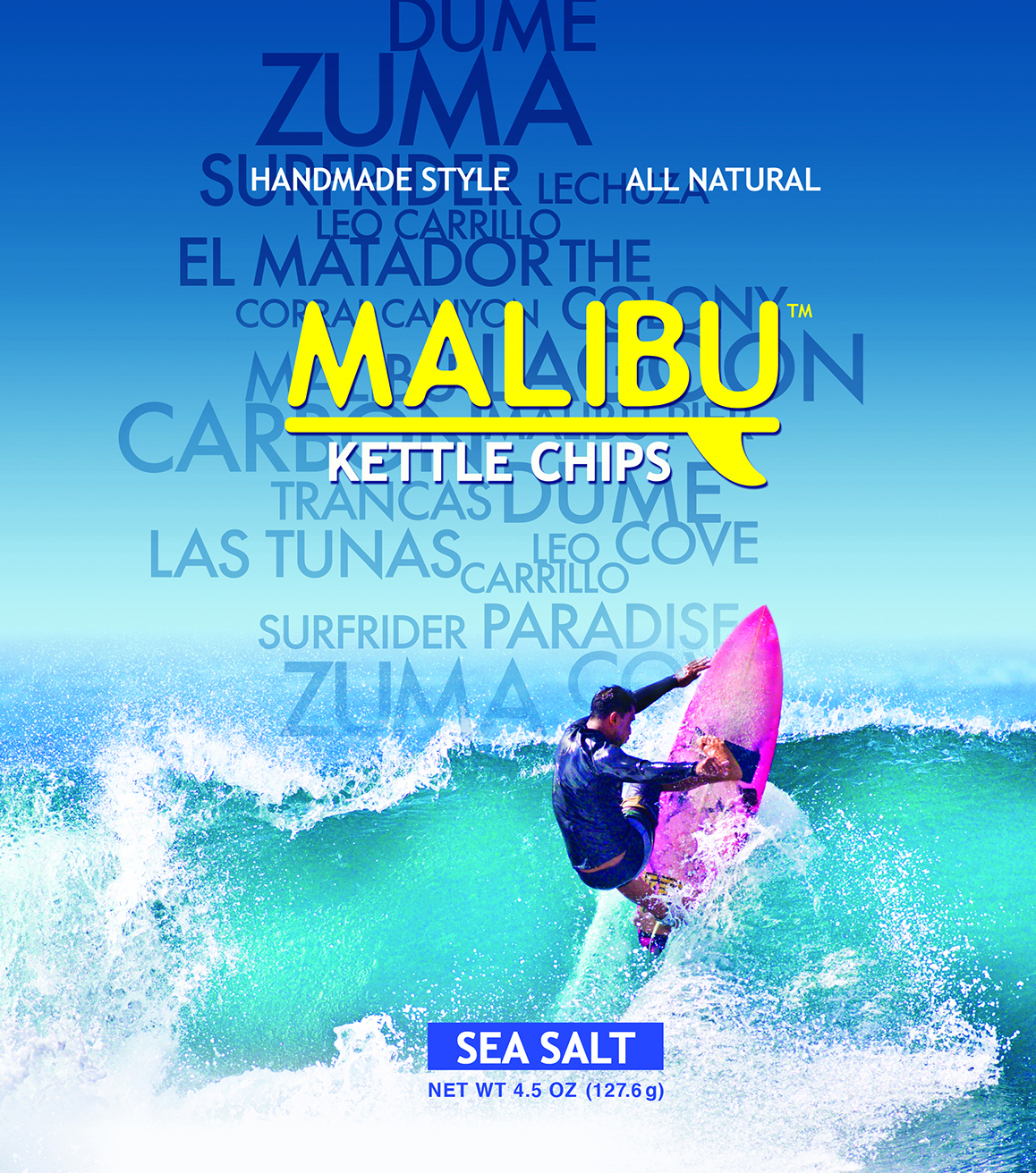 Malibu Chips package design
