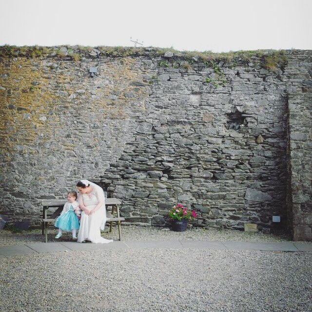 Elaine and Eleanor on her #wedding #day #daughter #stone