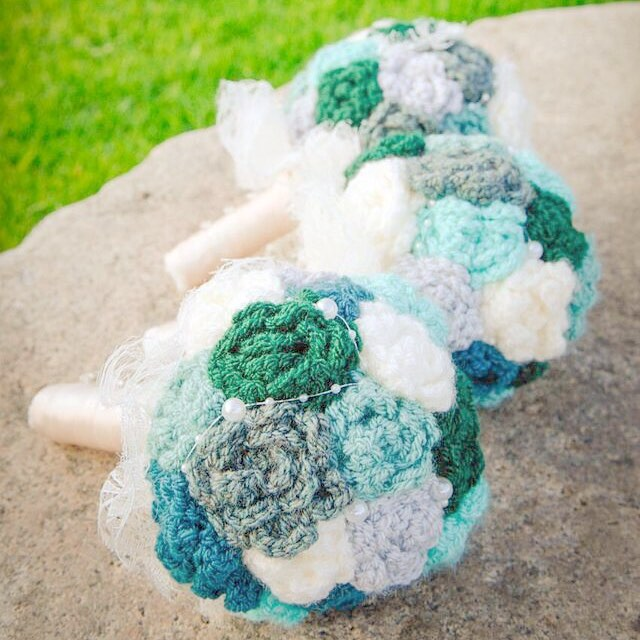 #crochet #bouquets #green