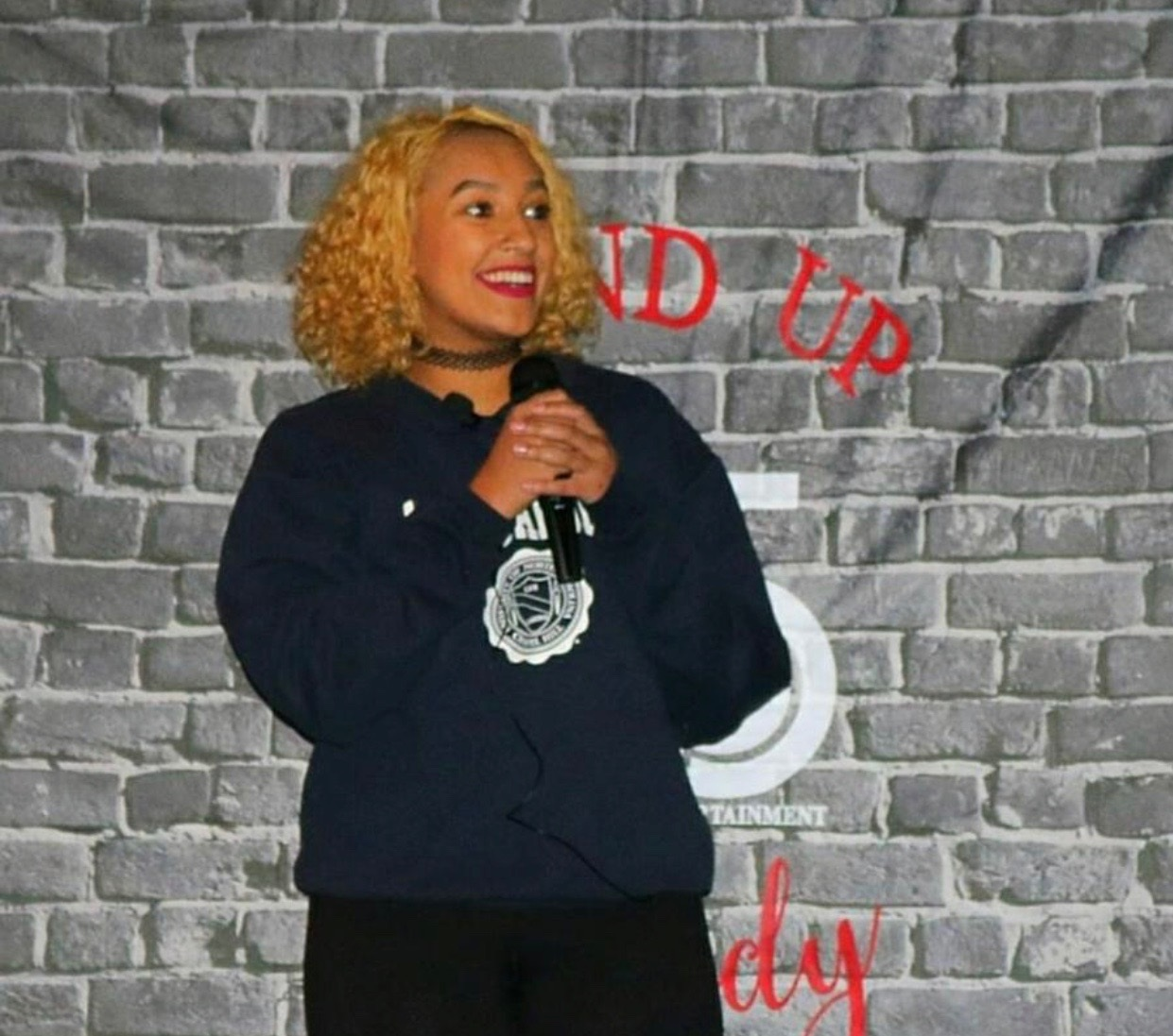 Noni performing at Fast-n-Funniest at Solas Raleigh on 11/11/2018