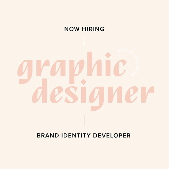 WE ARE HIRING! 💪🏼 We're looking for a badass designer that loves brands, logos, color palettes, typography, art direction and being part of a team that thrives on creating cool shit. ⠀⠀⠀⠀⠀⠀⠀⠀⠀ Do you fit the following criteria? ⠀⠀⠀⠀⠀⠀⠀⠀⠀ You have badass skills in design programs including Adobe Creative Suite, specifically Adobe Illustrator. ⠀⠀⠀⠀⠀⠀⠀⠀⠀ Excellent communication skills - you can write an email like a boss and don't use 'um' and 'uh' during a presentation. ⠀⠀⠀⠀⠀⠀⠀⠀⠀ Ability to work independently and complete assigned tasks within identified time frames - AKA you can meet deadlines. ⠀⠀⠀⠀⠀⠀⠀⠀⠀ You can talk about your work and clearly explain the reasons/inspiration for your choices. ⠀⠀⠀⠀⠀⠀⠀⠀⠀ Organized, dependable and detail oriented and believe that design is all in the details. ⠀⠀⠀⠀⠀⠀⠀⠀⠀ You're a damn good designer. ⠀⠀⠀⠀⠀⠀⠀⠀⠀ Bonus Criteria: Experience with branding design via agency work Knowledge of Squarespace and web design ⠀⠀⠀⠀⠀⠀⠀⠀⠀ This is a full-time salaried position providing health, dental and vision insurance. We provide all our employees with a full-loaded Macbook Pro and an Adobe Creative Cloud license. And, of course, offer salaries commensurate with experience. ⠀⠀⠀⠀⠀⠀⠀⠀⠀ This is not a remote or freelance position. We're looking for this unique individual to join our office in downtown Kansas City. ⠀⠀⠀⠀⠀⠀⠀⠀⠀ Link in profile to apply! Deadline for applications is THIS FRIDAY. #kcjobs