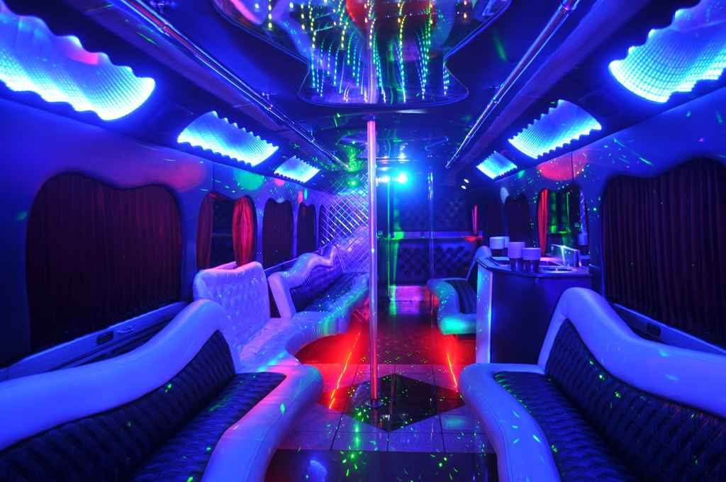 Sparkled MCI Party Bus Interior
