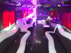 No Filter and the Lights On Interior Party Bus