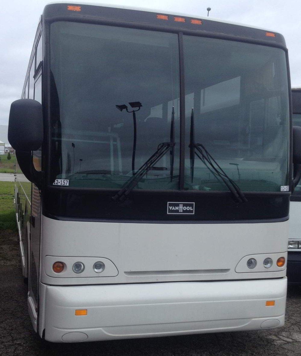 Van Hool Front Shot of Patriot Limo Bus