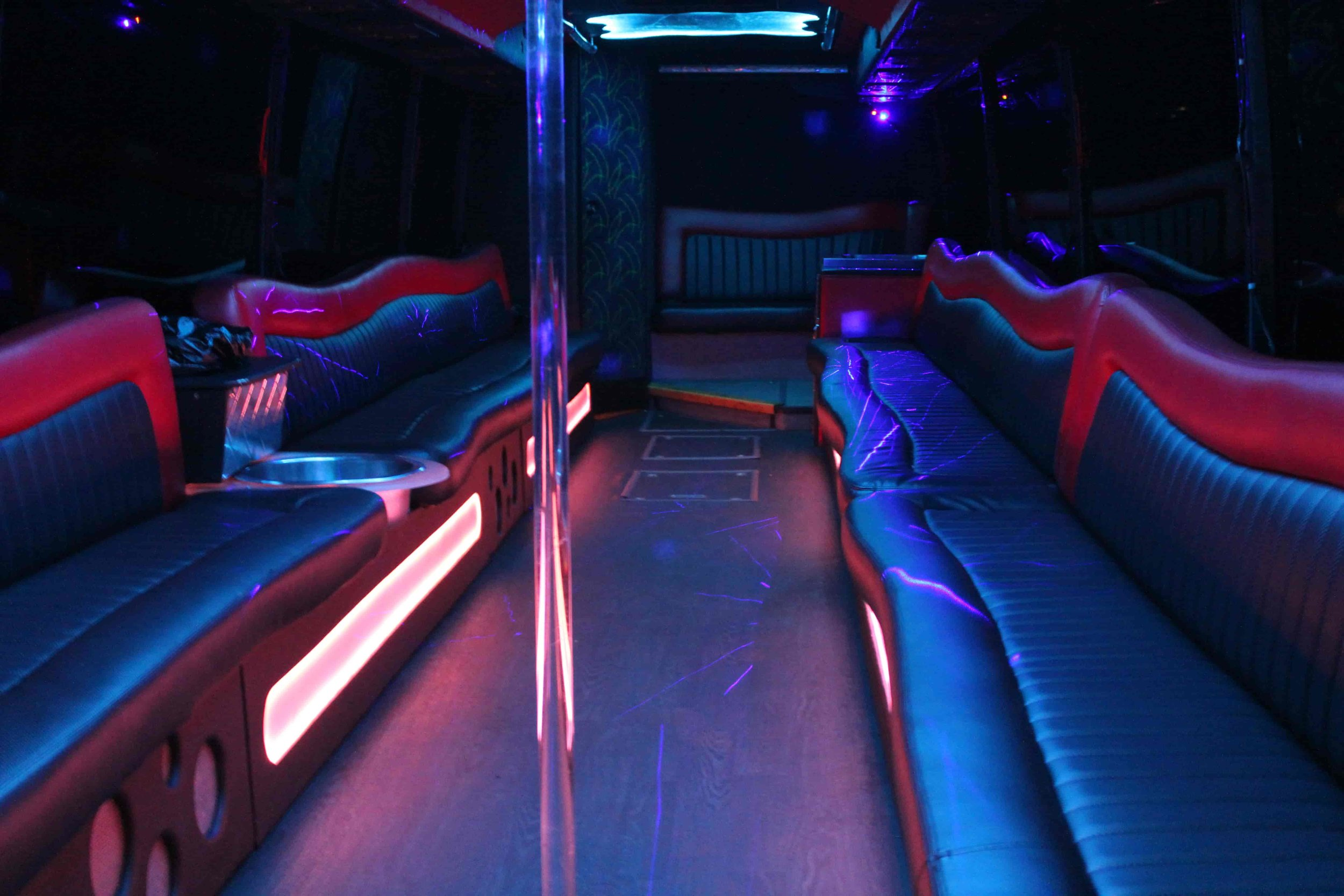Patriot Limo Bus Floor LED Pills light Red