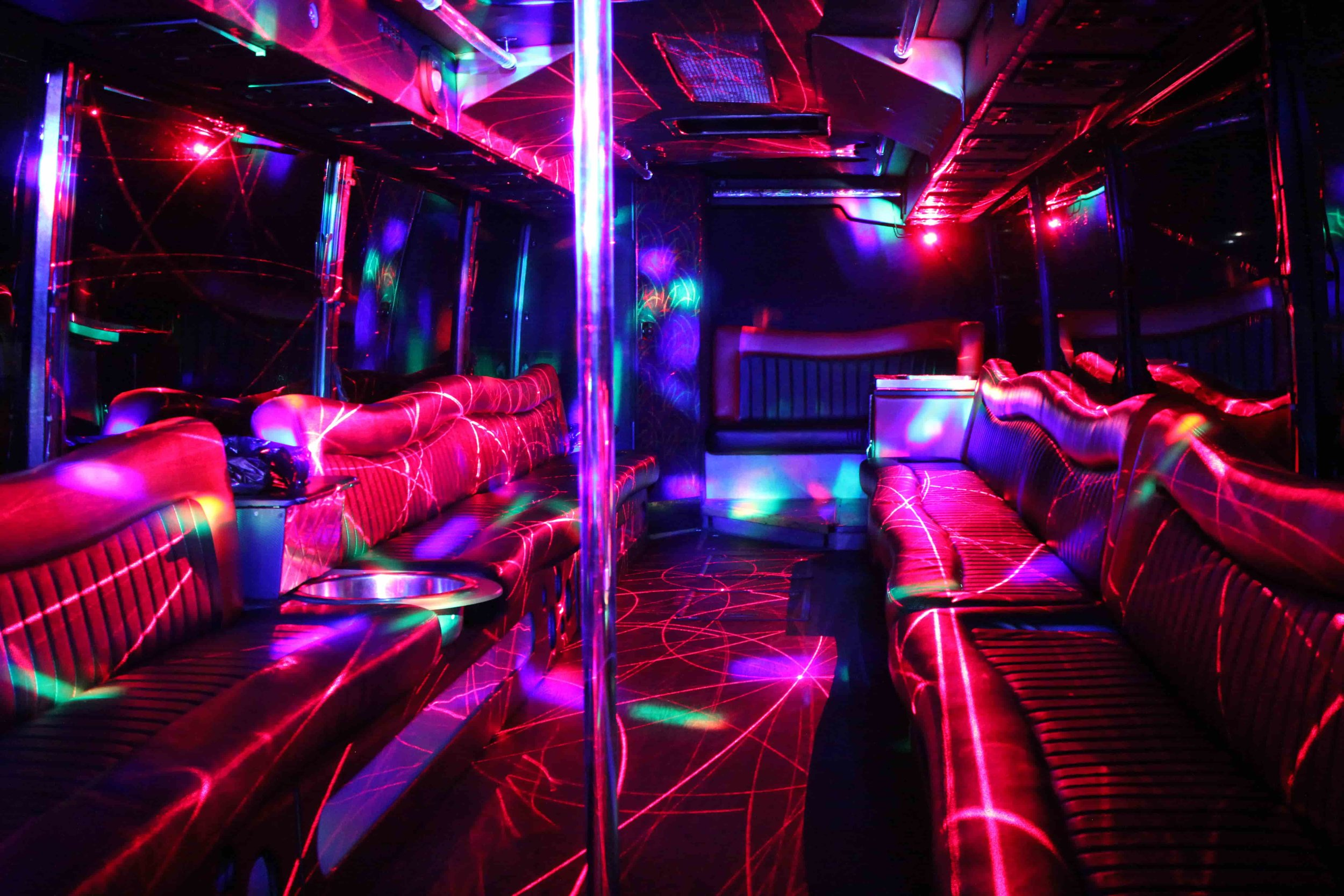 Patriot Laser Light Craziness on Party Bus