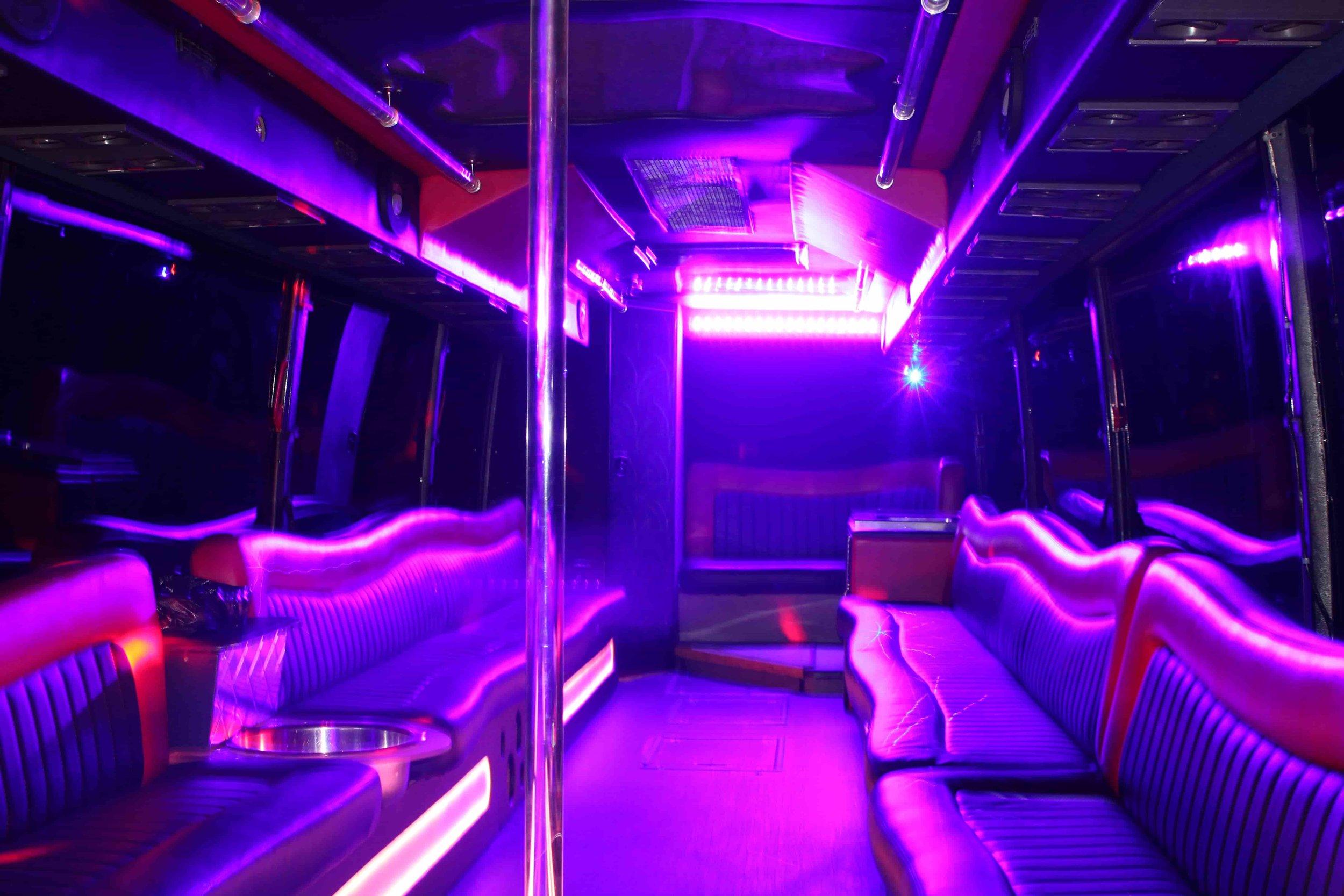 Patriot Light Purple Party Bus