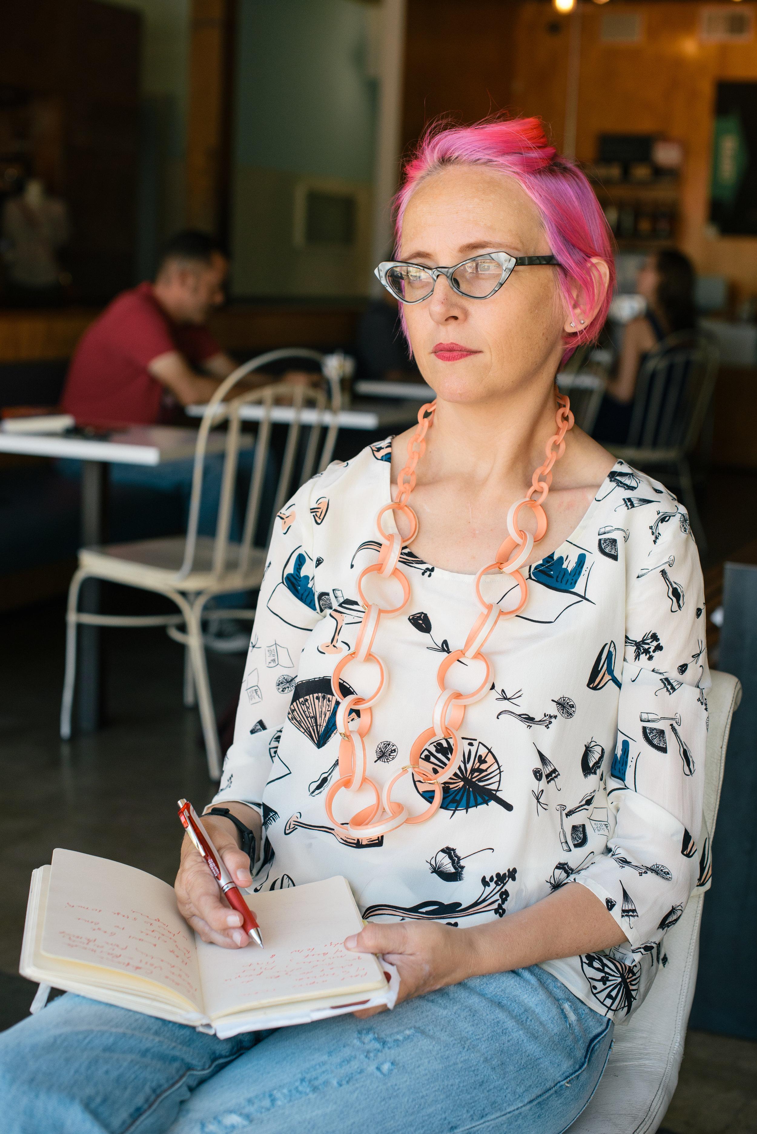 August 2017: At Giant Coffee, Phoenix, AZ. (Sarah Roberson Photography)