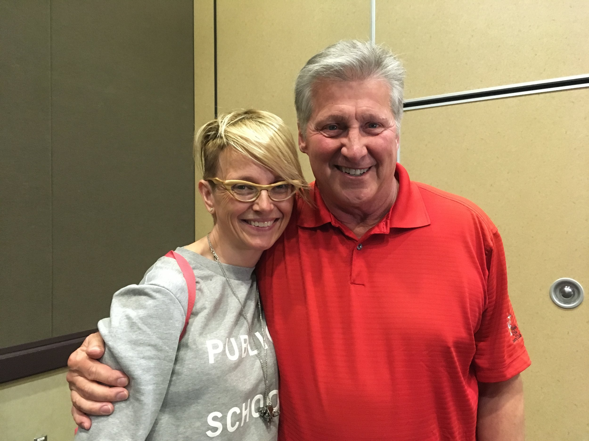 March 2018: With author and teacher extraordinaire Ron Hansen ( The Kid ,  Atticus ,  Mariette in Ecstasy ,  The Assassination of Jesse James by the Coward Robert Ford ) at the Masters Workshops following the Tucson Festival of Books. An early, adept,and encouraging set of eyes on my novel-in-progress!
