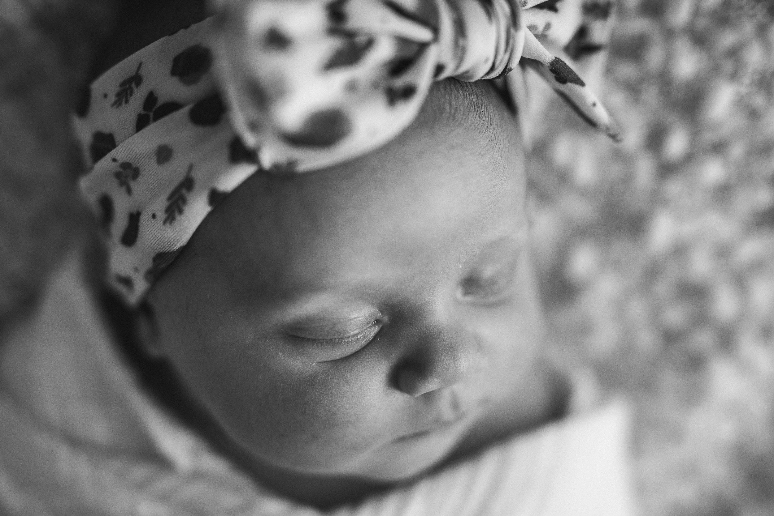 top angle of baby girl