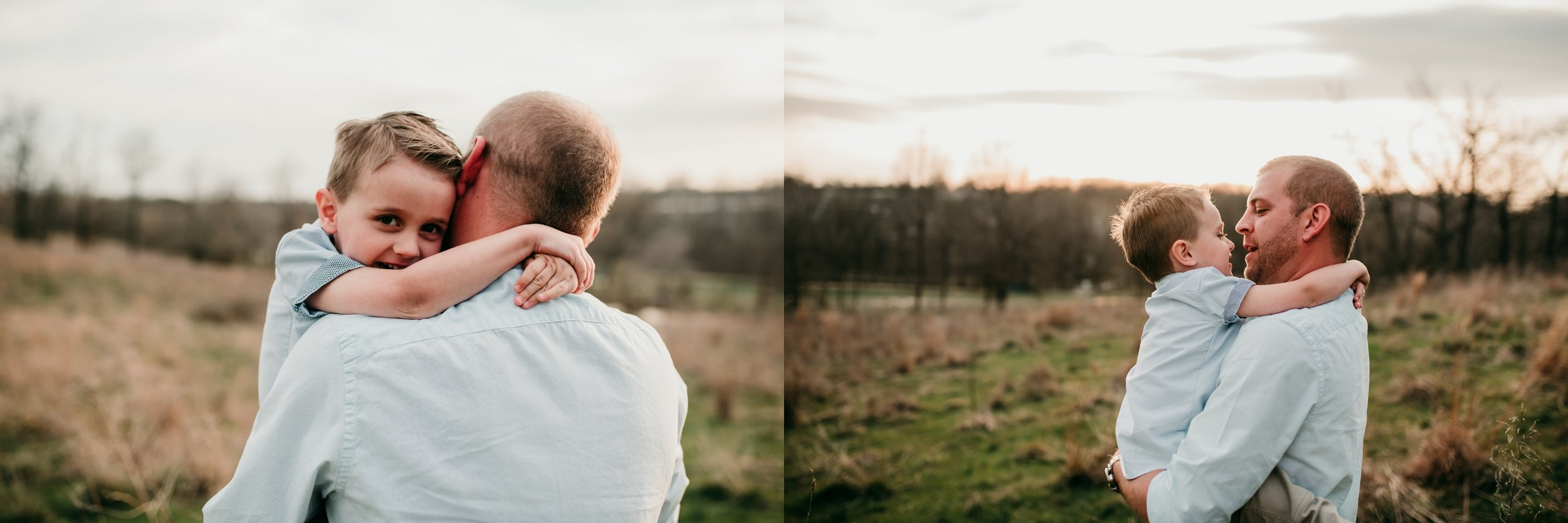 son hugging dad lifestyle photographer