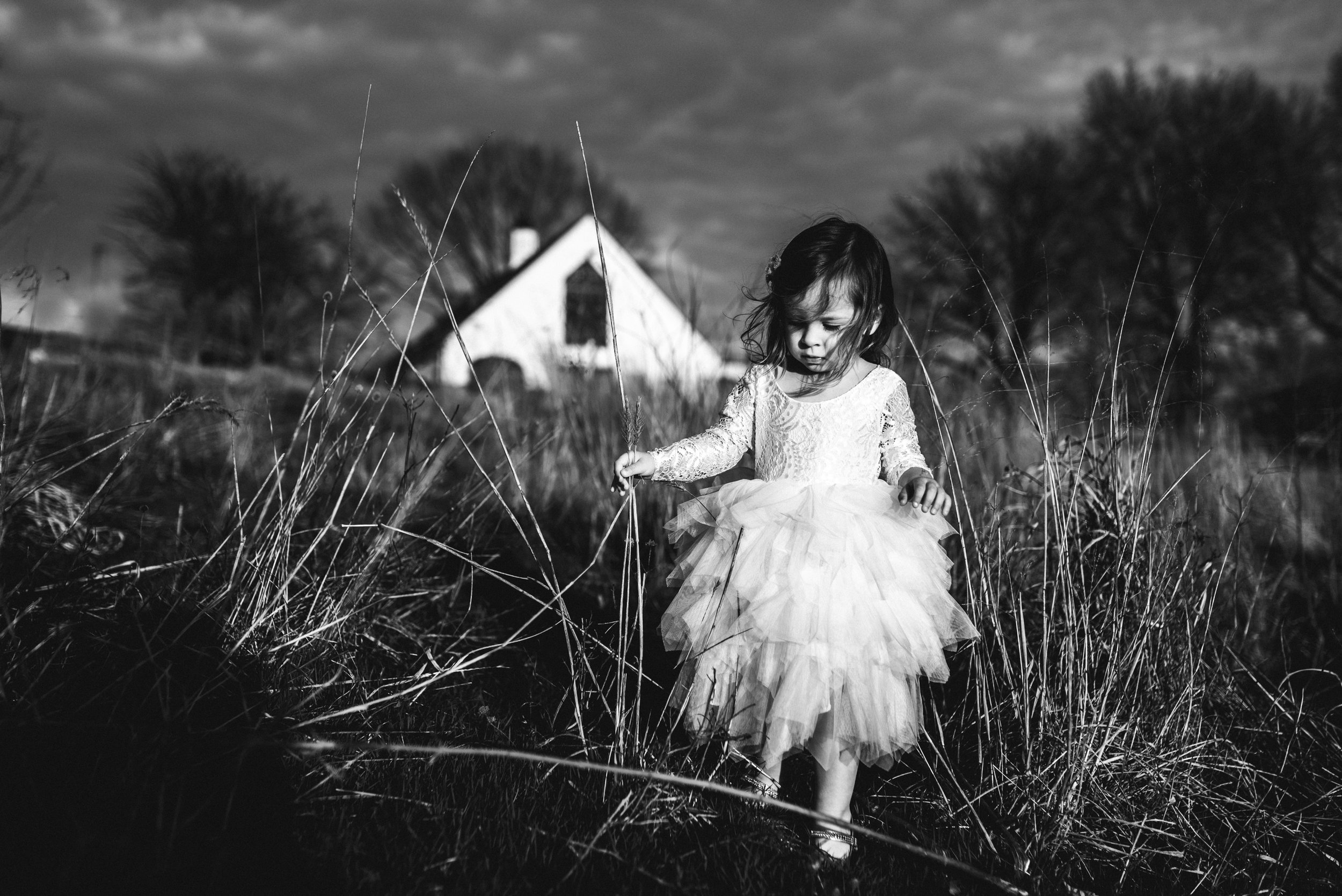 girl in field in cute dress Lifestyle photographer