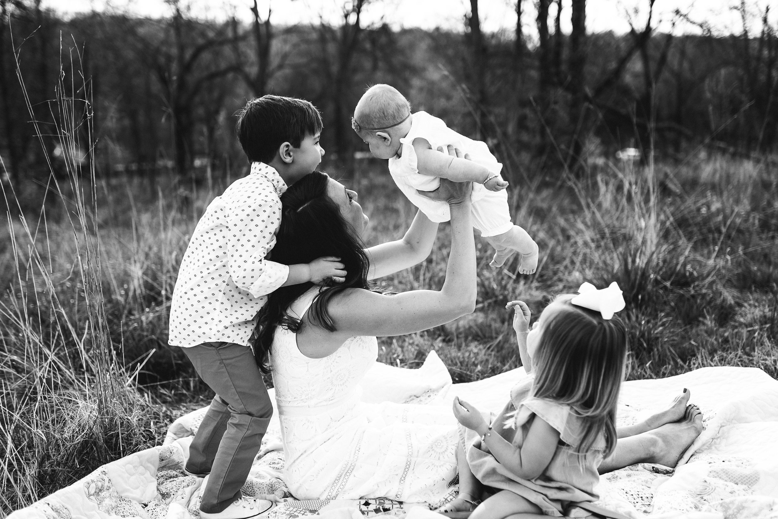 mom with three children