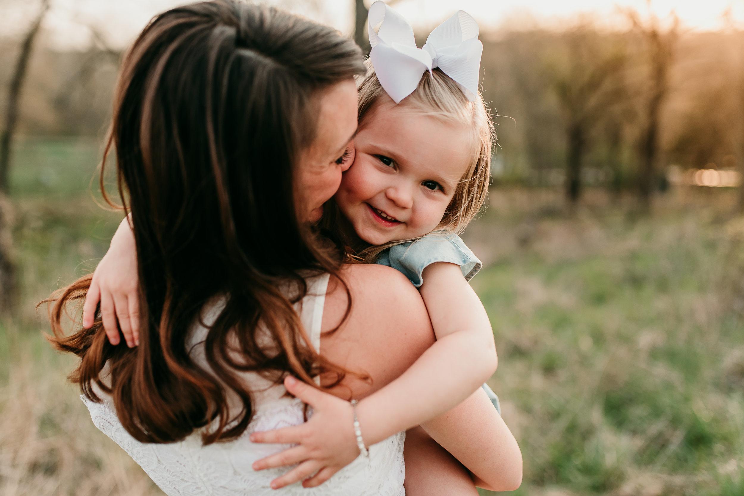daughter loving on mommy