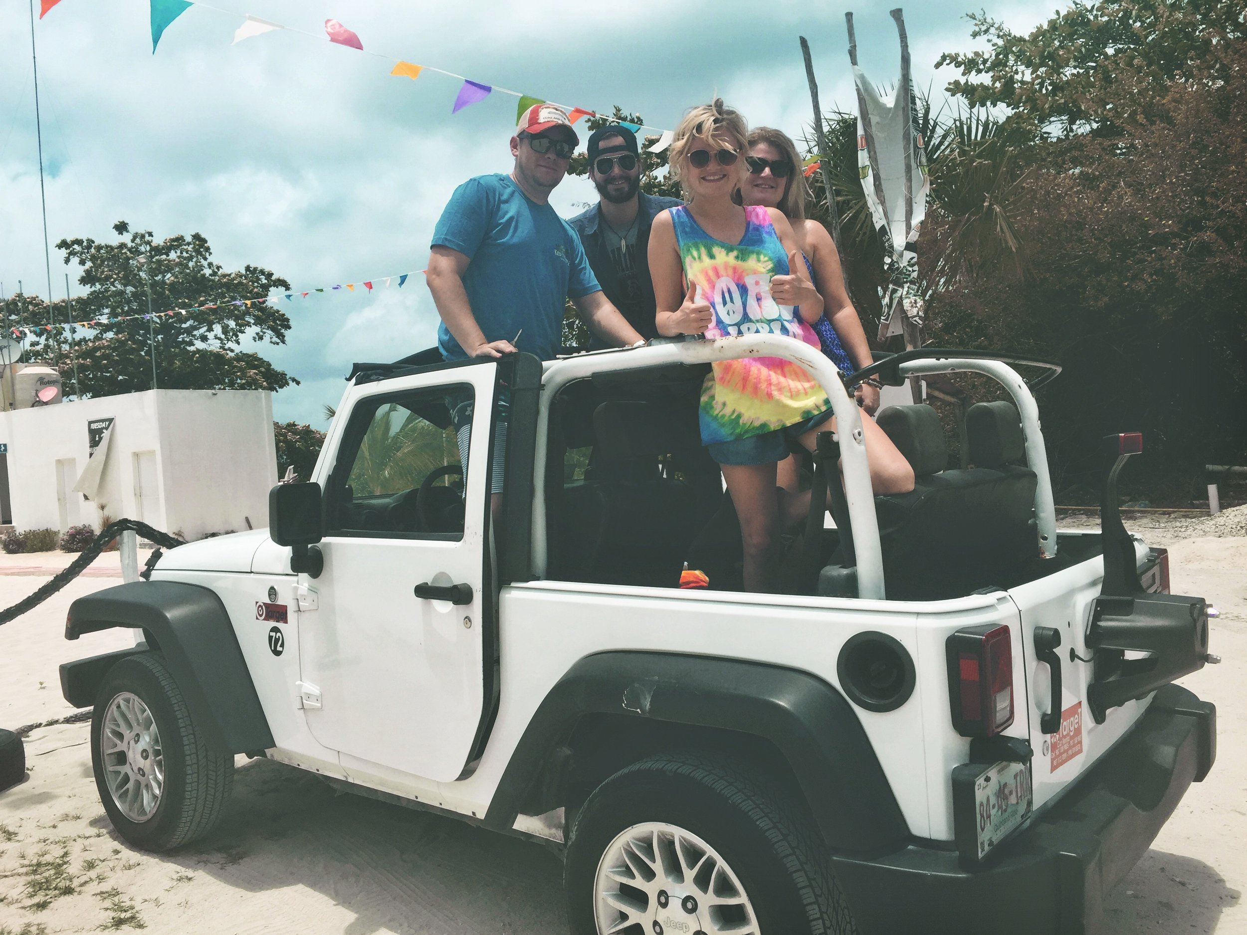 *Jeepin' around Cozumel with some of our FAVORITE friends we met on board from Austin, TX - Chris and Michelle Genzardi