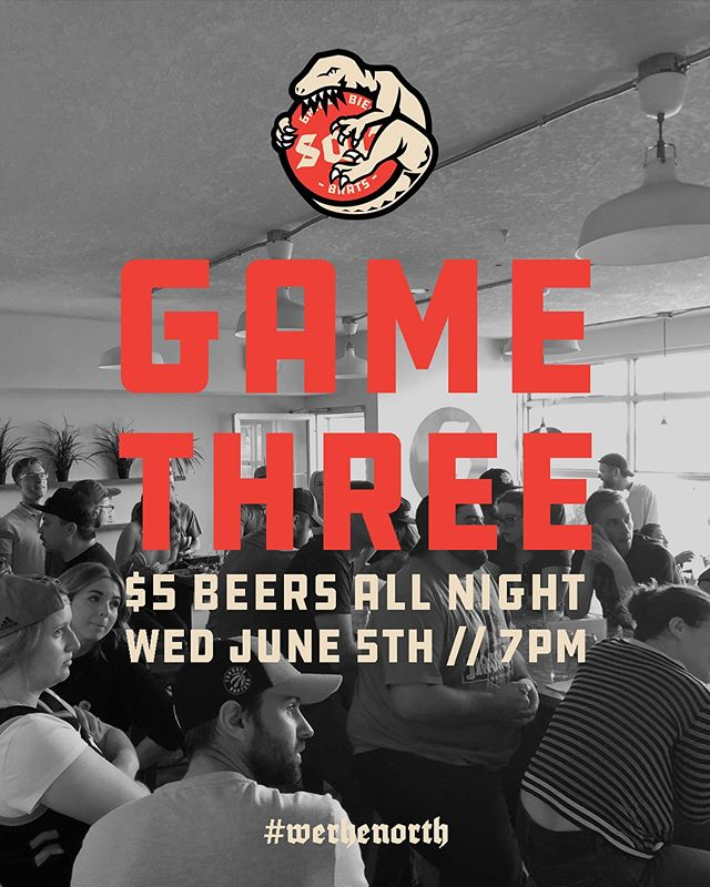 GAME THREE TOMORROW NIGHT! Come cheer the boys on as they take on those nasty Golden State goons. The cities best selection of Alberta draught beer is on for just $5 all night, tip off is 7pm, don't forget to wear your jersey!