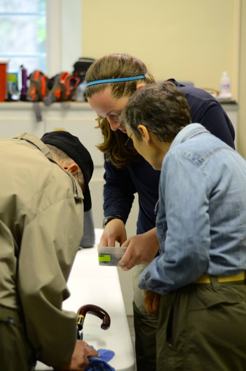 Logan teaching about salamanders at a MLBS Open House event