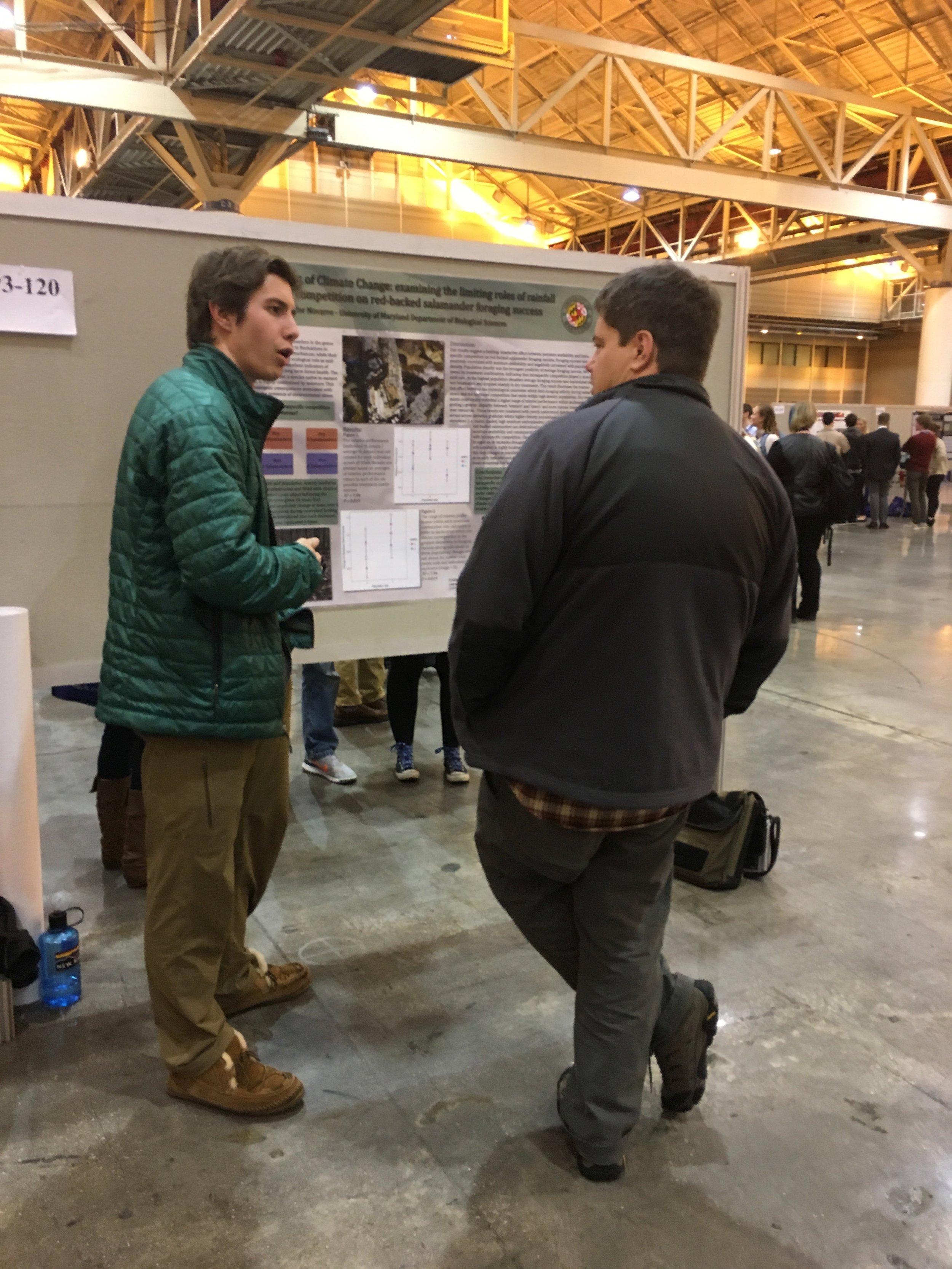 Matt presenting research at SICB