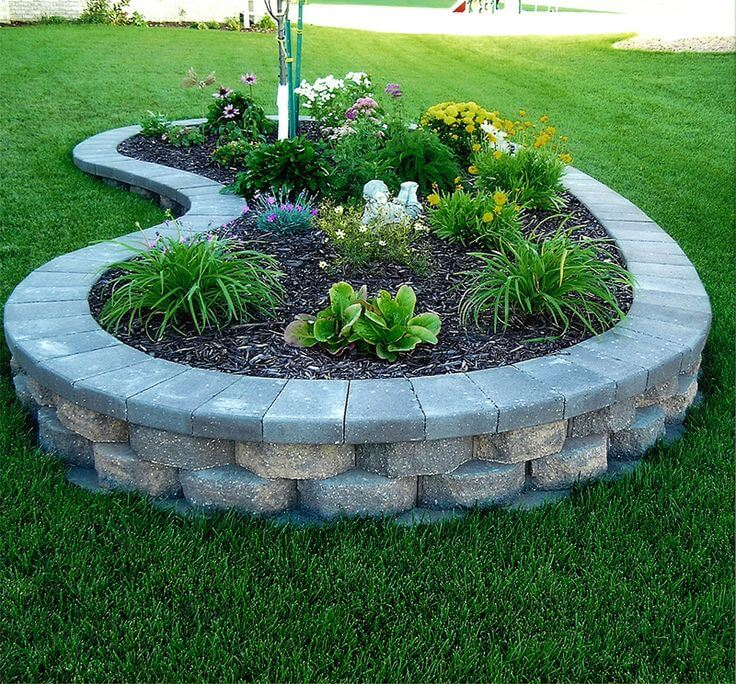 Raised Brick Beds - Add style to your yard by showing off your building skills and mastering this leveled flower bed.
