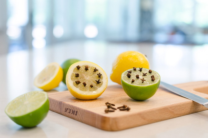 Prevent Bugs - Use citrus and cloves to keep them away!