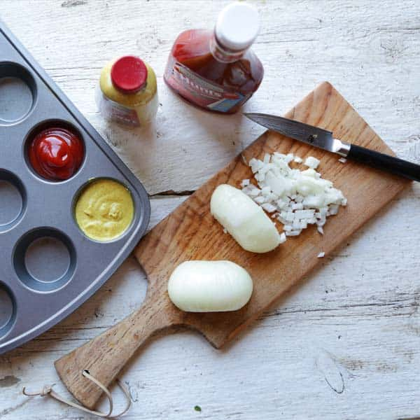 Muffin Condiments - Organize your condiments in a practical way- with muffin tins!
