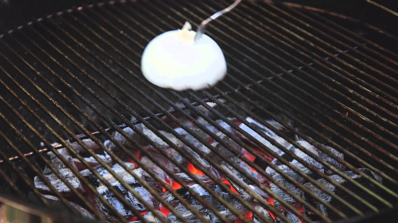 Grill Cleaning - Use an onion to clean your grill!